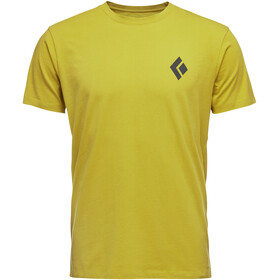 Black Diamond Equipment for Alpinist Camiseta Manga Corta Hombre, sulphur